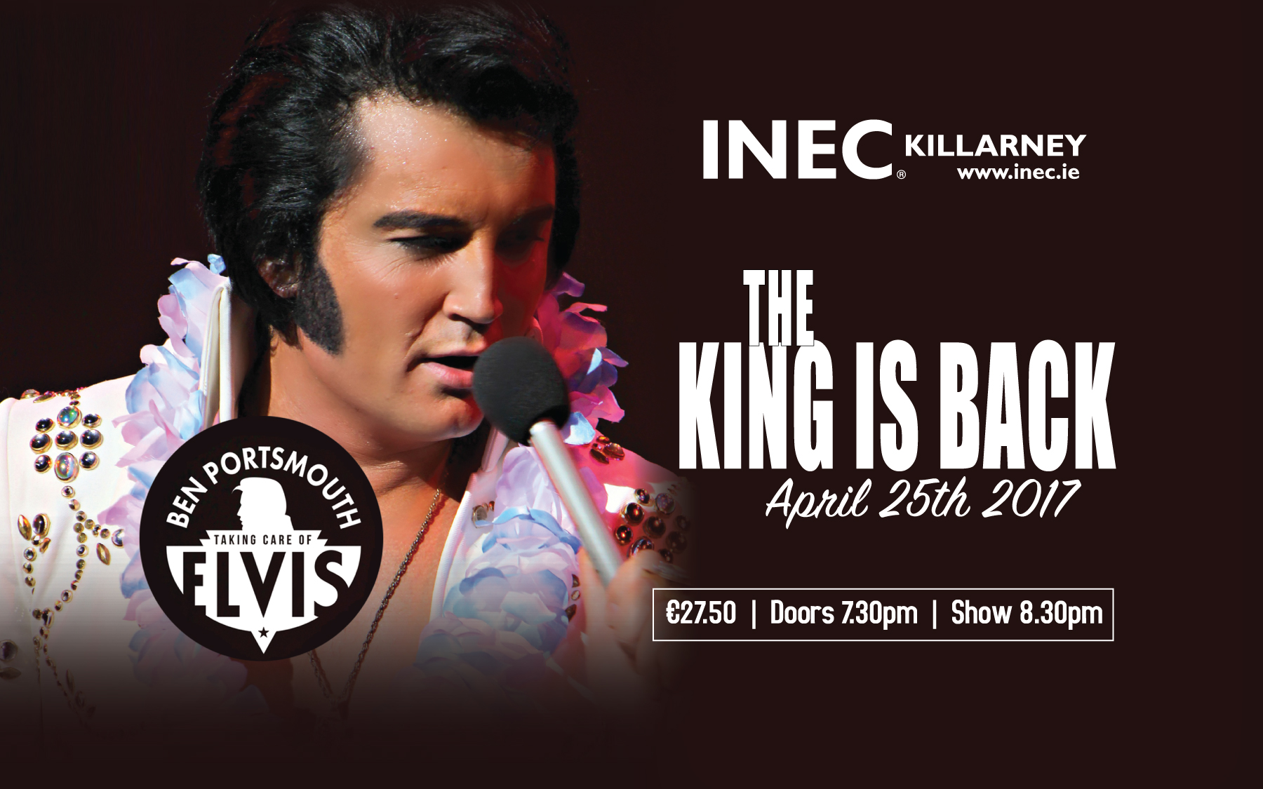 Ben Portsmouth as Elvis comes to the INEC Killarney April 25th