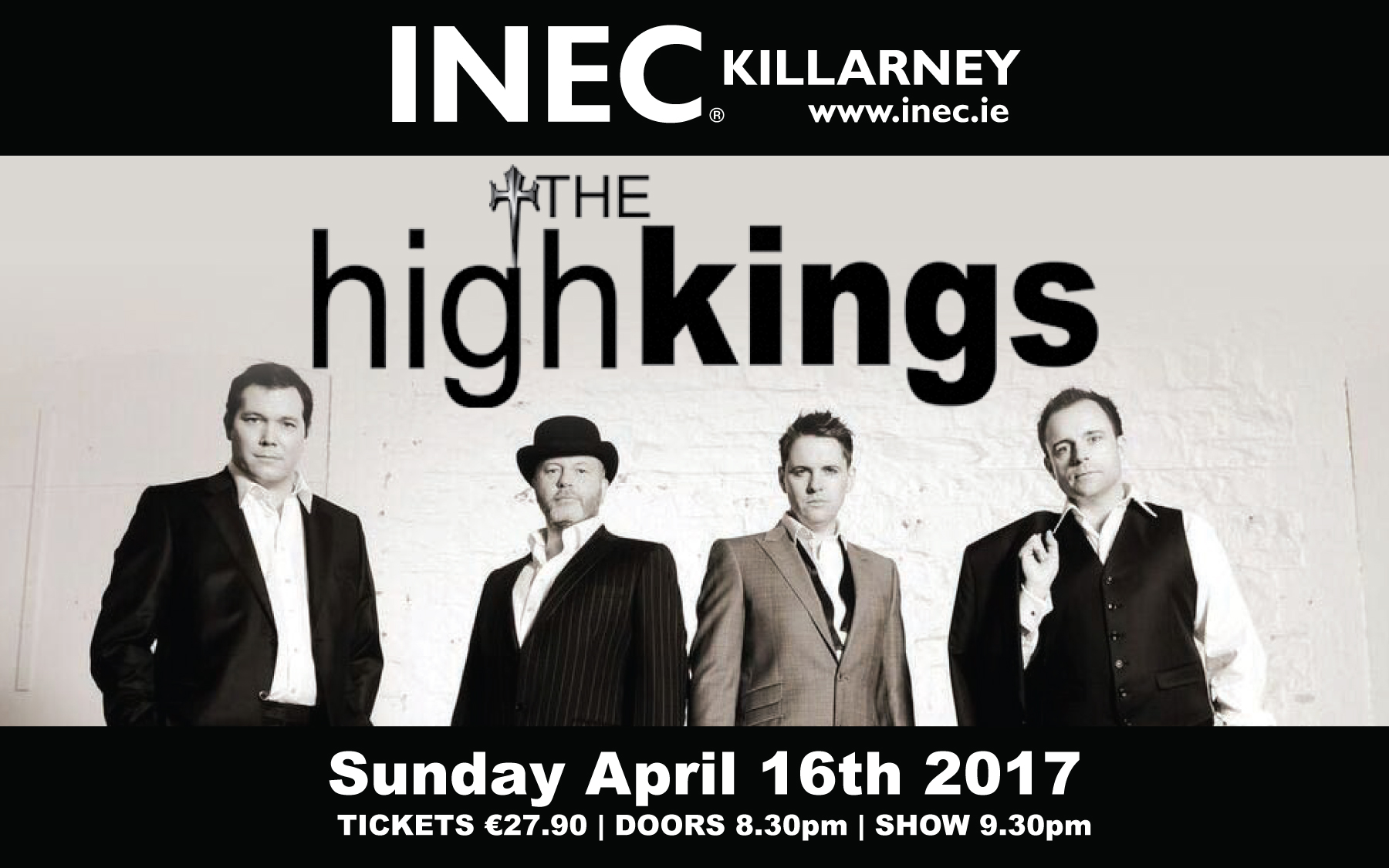 The High Kings return Easter Sunday, April 16th