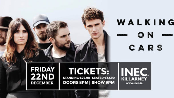 Dingle Bells this Christmas as Walking on Cars announce December 22nd date at the INEC Killarney