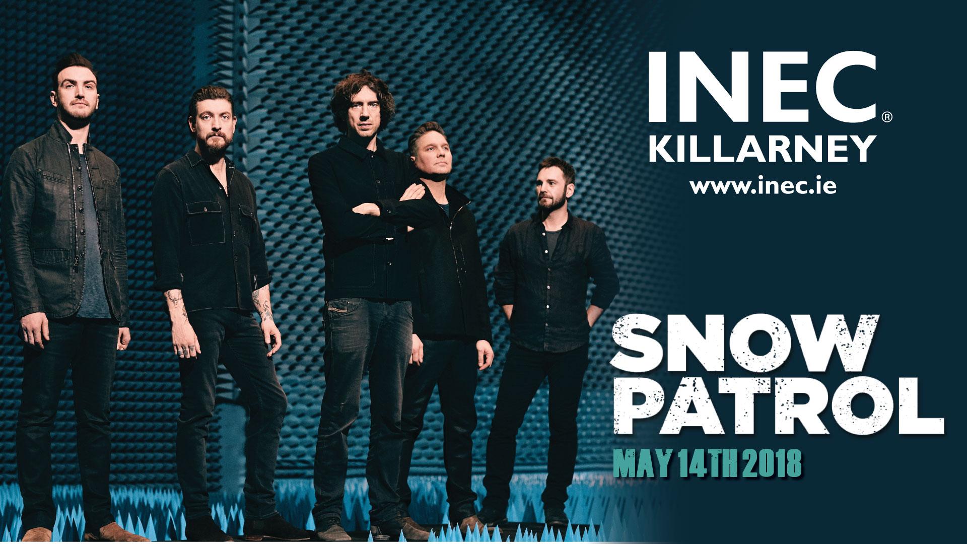Snow Patrol return to the INEC Killarney on MAy 14th 2018